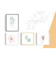 minimalist style decorative art with flowers and vector image