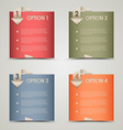 Modern origami colored options background vector image