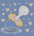 nipple flat icon single high quality outline vector image vector image