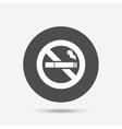 No Smoking sign icon Cigarette symbol vector image vector image
