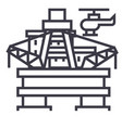 oil platform rig line icon sign vector image