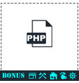php file icon flat vector image vector image