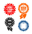 quality sign icon template set warranty and vector image vector image