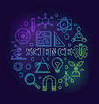 science modern round colored vector image vector image