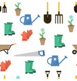 seamless pattern for gardener set vector image vector image