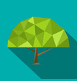set polygonal flat trees with different crowns and vector image vector image
