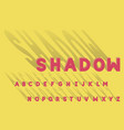 shadow bold font alphabet vector image vector image