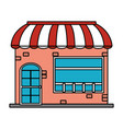 shopping store cartoon vector image