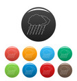 snow and rain icons set color vector image