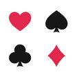 suit playing cards isolated vector image vector image