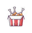 tandoori chicken rgb color icon vector image