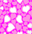 Texture of hearts vector image vector image