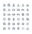 thin line icons set with logistic delivery vector image