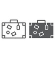 travel bag line and glyph icon travel and tourism vector image