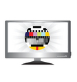 tv monitor vector image vector image