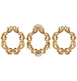 vintage baroque frame decor detailed 3d realistic vector image vector image