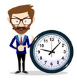 young businessman in business concept isolated on vector image vector image