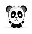 sweet and funny panda animal vector image
