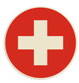 Switzerland flag post vector image