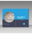 Brochure cover template Brick design vector image