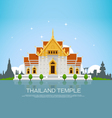 thailand temple vector image
