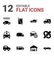 12 car icons vector image vector image