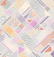 abstract pastel geometric background vector image vector image