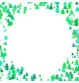 abstract random pine tree pattern round border vector image vector image