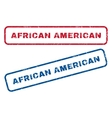 African American Rubber Stamps vector image vector image