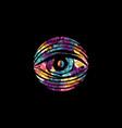 all seeing eye theme logo template vector image vector image