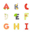 alphabets flat icons vector image
