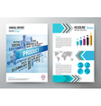 annual report design template cover brochure vector image vector image