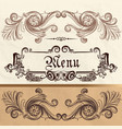 antique menu design on a paper vector image