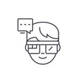 augmented reality vision glasses line icon concept vector image vector image