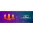 auspicious happy diwali colorful banner vector image