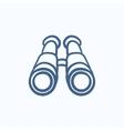 Binoculars sketch icon vector image vector image