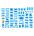 blue ribbon banner ribbons great design for any vector image vector image