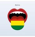 Bolivia language Abstract human tongue vector image vector image