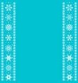borders with snowflakes vector image vector image