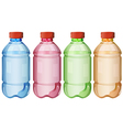 Bottles of safe drinking water vector image