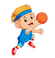 boys playing basketball sport vector image