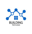 building tech logo vector image