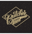 Butcher shop logotype vector image vector image