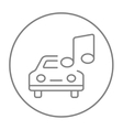 Car with music note line icon vector image vector image