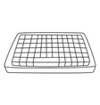 cartoon image of keyboard icon vector image