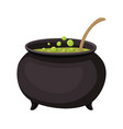cauldron with elixir isolated icon vector image vector image