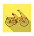 children s bicycle with low frame and luggage vector image vector image