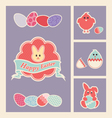 colorful easter design elements and icons set vector image vector image