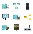 Computer data icons set flat style vector image vector image
