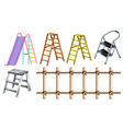 Different types of ladders vector image